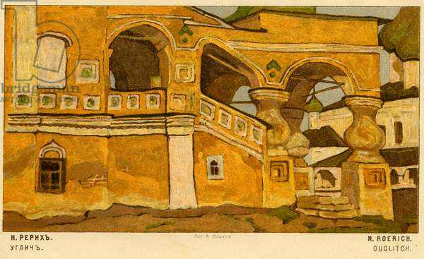 Uglich - from painting  by N. Roerich