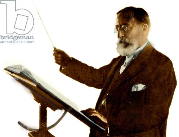 Camille Saint-Saens conducting French