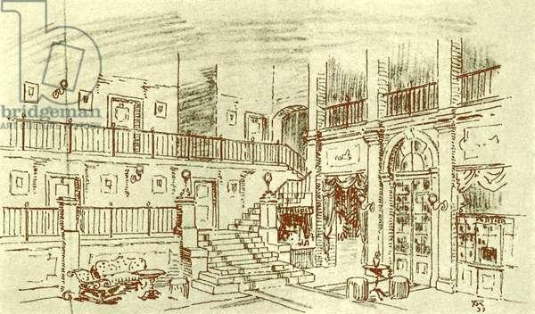Richard Strauss  'Arabella ' stage set design