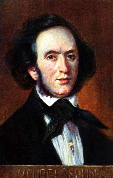 Felix (Bartholdy) Mendelssohn portrait