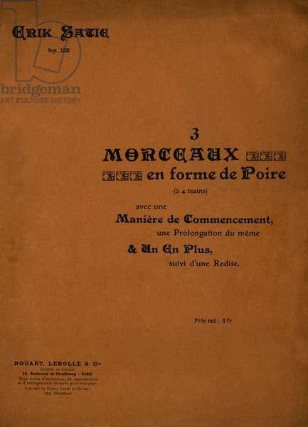 Erik Satie 's '3 Morceaux en forme de Poire'
