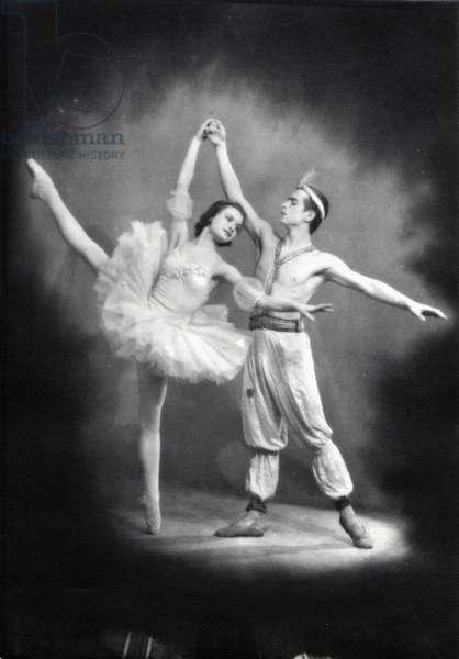 Young Rudolf Nureyev dancing