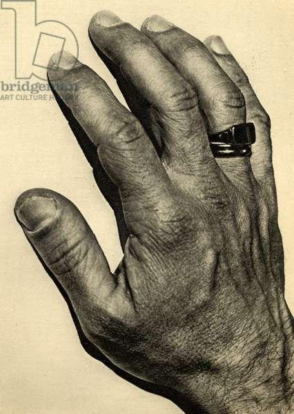 Igor Stravinsky's hand 1929
