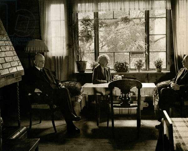 Jean Sibelius, his wife, and Eero Jarnefelt