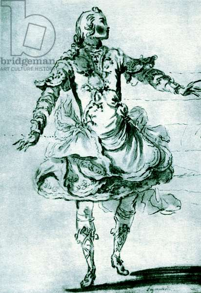 Pierre Jelyotte in the ballet opera 'Pygmalion'