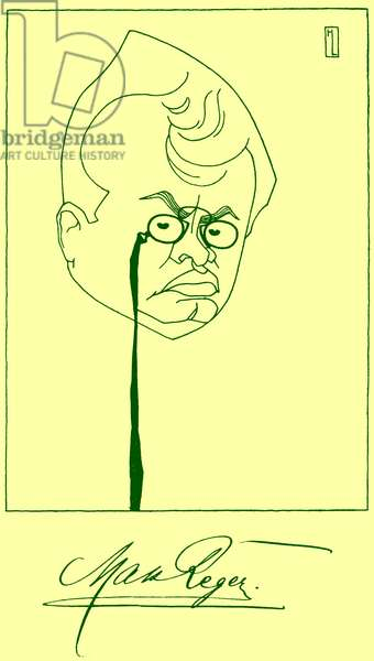 Max Reger Caricature by