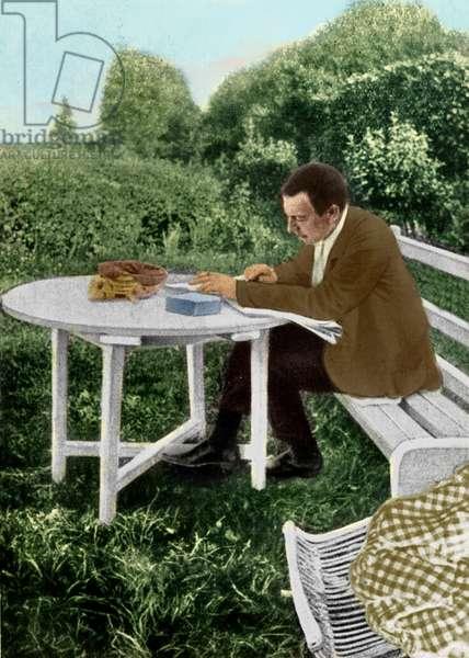 Sergei Vassilievich Rachmaninov correcting 3rd symphony