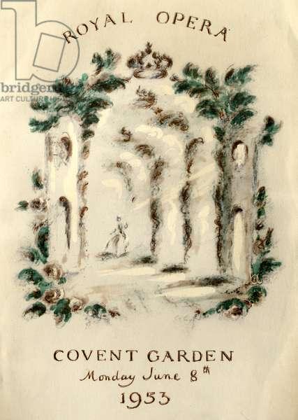Coronation programme cover for Queen Elizabeth II coronation, 1953