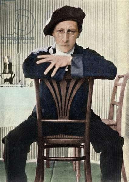 Igor Stravinsky on chair