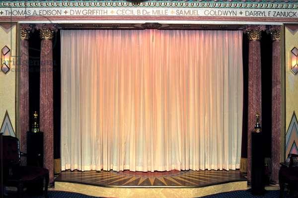 Velvet red  curtains