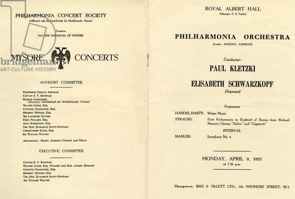 Richard Strauss programme