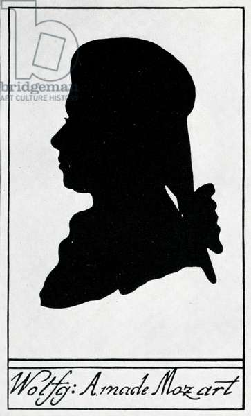Silhouette of Wolfgang Amadeus  Mozart 1785