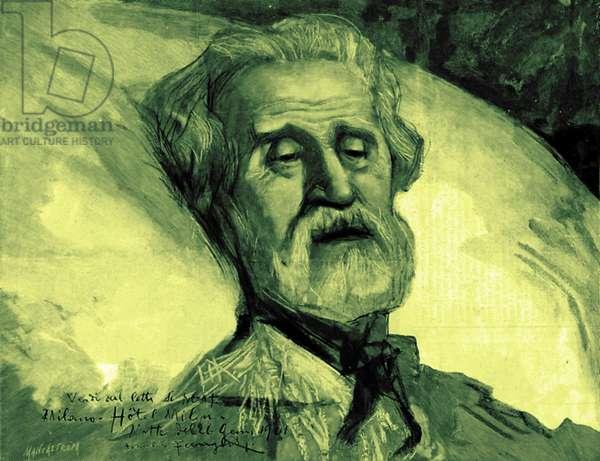 VERDI Giuseppe dying in