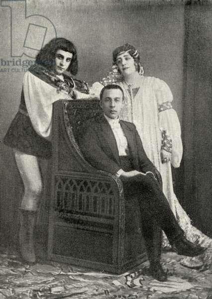 Sergei Vassilievich Rachmaninov with actors of 'Francesca da Rimini'
