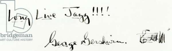 Gershwin George signature and