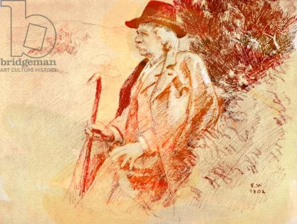 Portrait of Norwegian composer Edvard Hagerup Grieg
