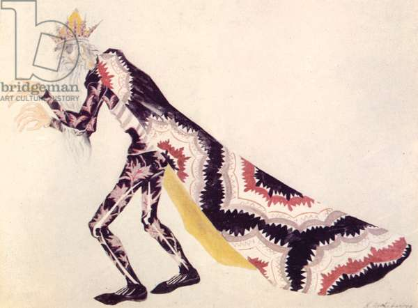 'The Firebird' costume design of Kashchei the monster, 1926