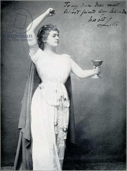 Lilli Lehmann as Isolde