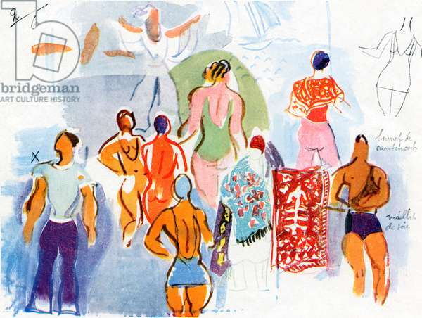 Raoul Dufy's costume designs for 'Beach'