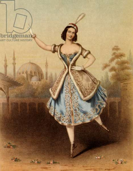 Fanny Cerrito (1817-1909) Italian dancer in La Lituana / The Lithuanian, 1840