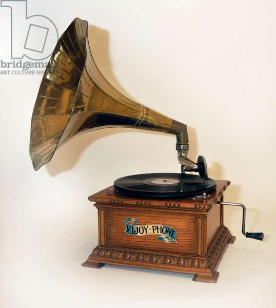 Early wind up gramophone