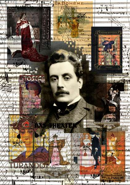 Giacomo Puccini Collage and