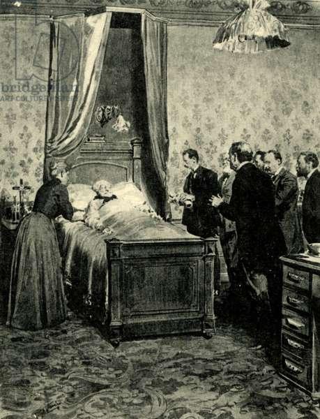 Giuseppe Verdi on his