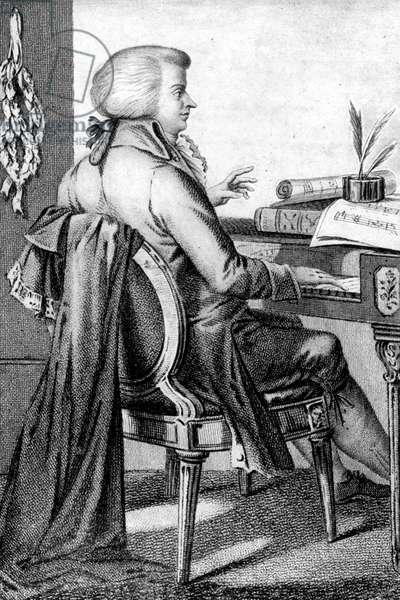 Wolfgang Amadeus Mozart composing