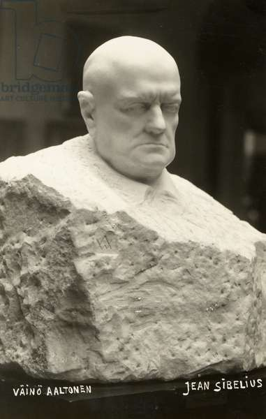 Bust of Jean Sibelius, 1935 (marble)