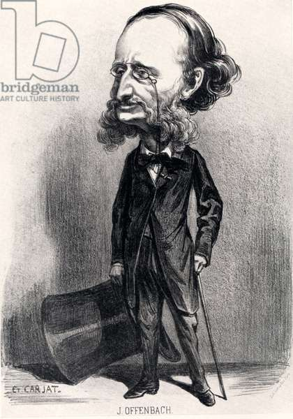 OFFENBACH Jacques Caricature by