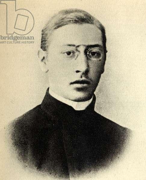 Igor Stravinsky aged 18