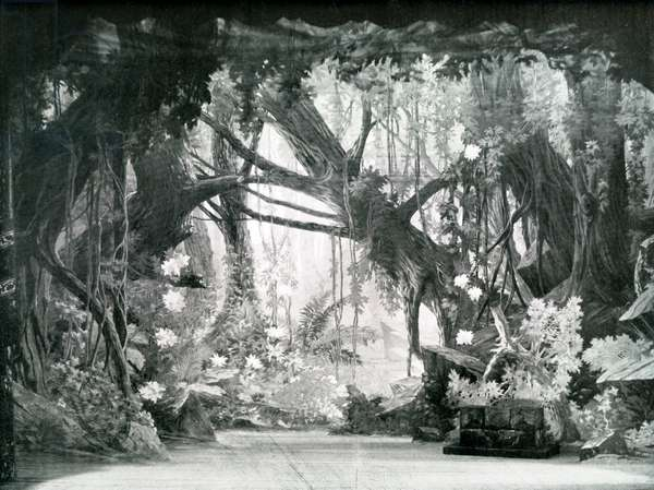 Stage set for Bacchus by Massenet