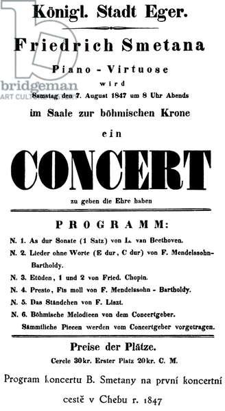 Bedrich Smetana programme