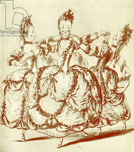 Costume sketch for the 'Three Graces' by S. L. Boquet