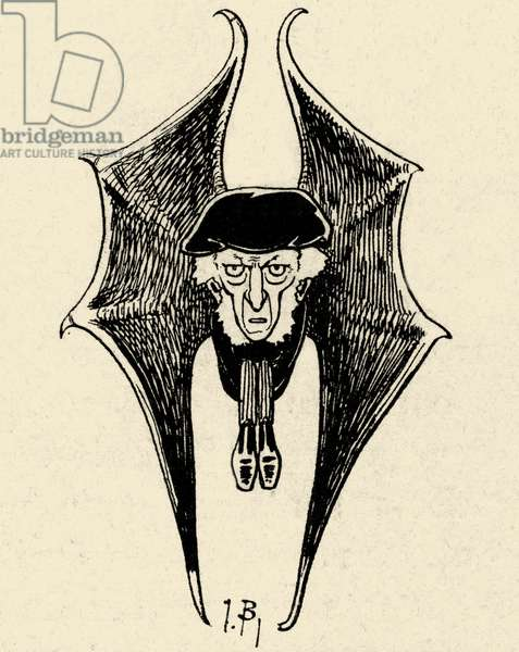 Richard Wagner as a bat - caricature