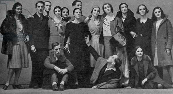 Marie Rambert and her company The Ballet Club, 1931