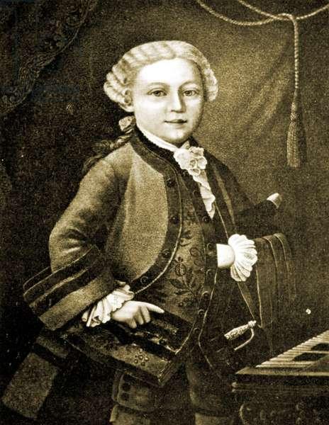Wolfgang Amadeus Mozart aged