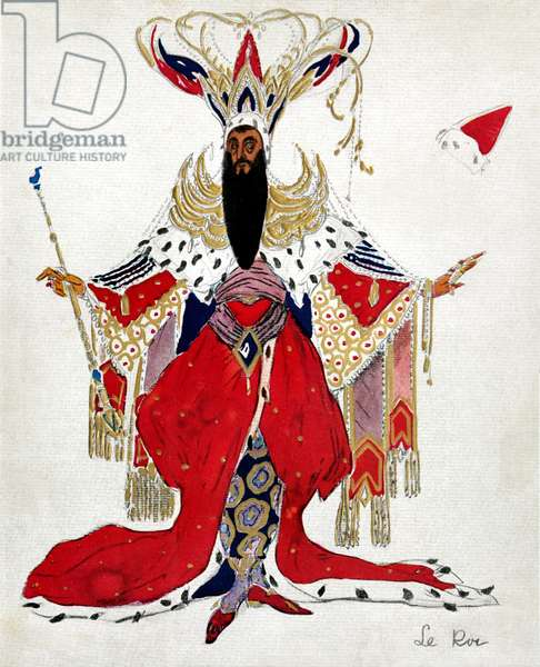 Costume for Potiphar in La legende de Joseph