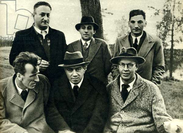 Sergei Prokofiev in front