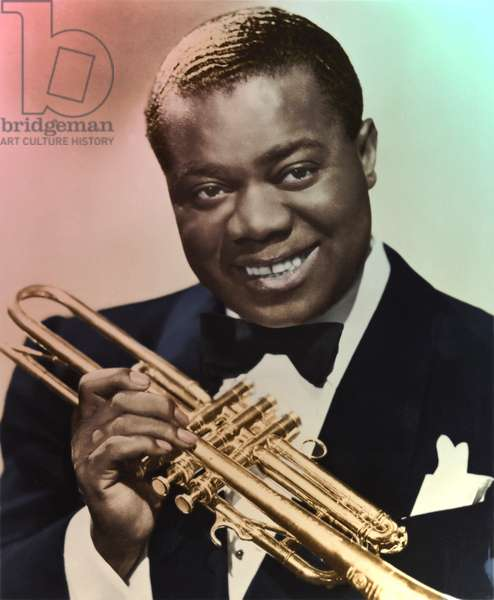 Louis Armstrong portrait with