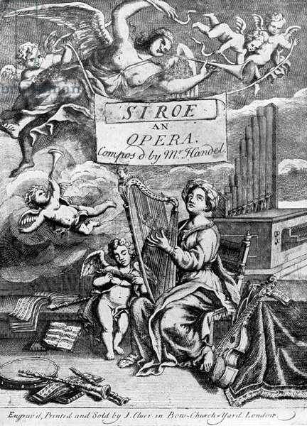 Handel's opera ' Siroes, King of Persia '
