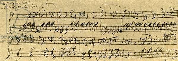 First Allegro from Mozart 's piano-violin sonata K8