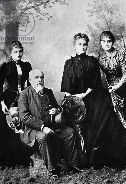 Marie Curie with her father and sisters
