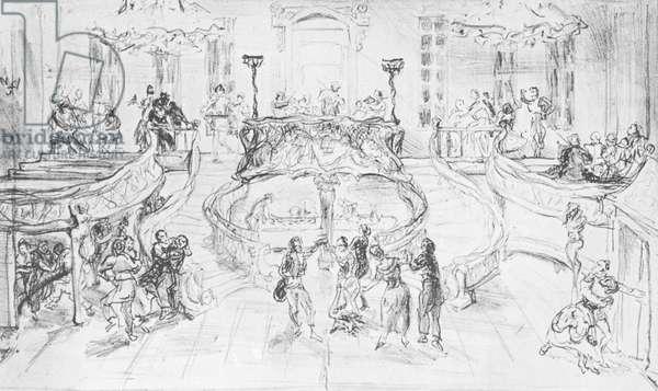 Max Slevogt - Set design for Don Giovanni
