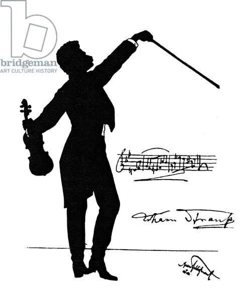 Johann II Strauss playing