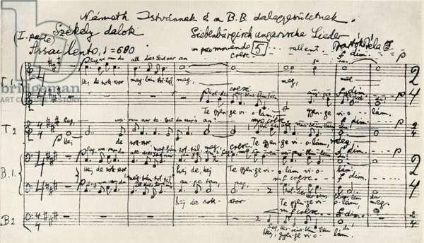 Bela Bartok - 'Chansons