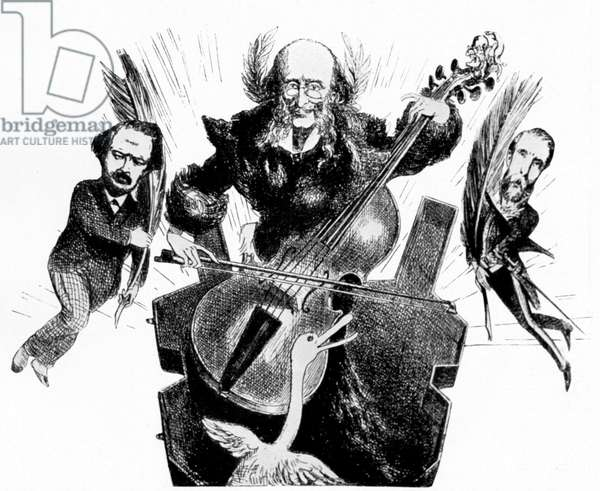 Jacques Offenbach playing cello