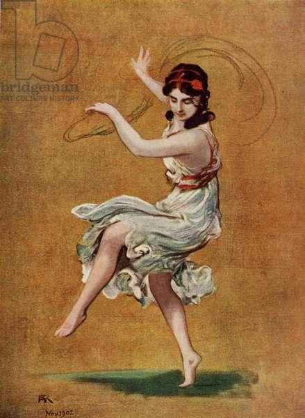 Isadora Duncan dancing barefoot-1912