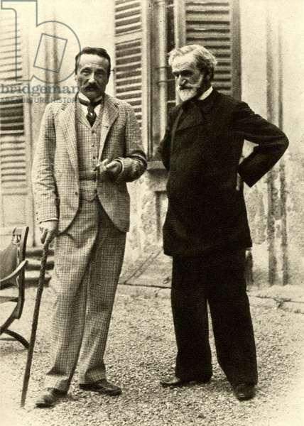 Giuseppe Verdi and Arrigo Boito at Sant' Agata, 1893