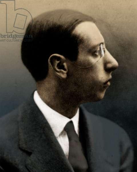 Igor Stravinsky - profile, 1911